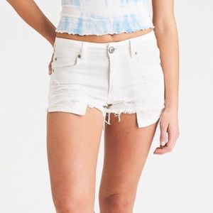 American Eagle Distressed High Rise Shortie 8